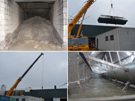 Barka services installeert 39 bucket wheel 39 bij agristo en for Dujardin services