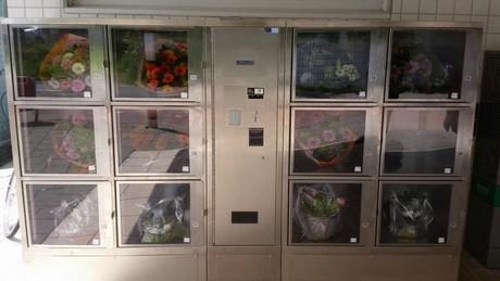 Nl Flower Vending Machine At Metro Station