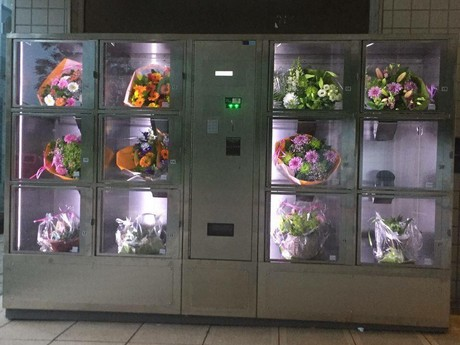 Nl Flower Vending Machine At Metro Station