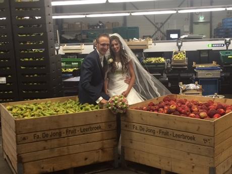 Trouwerij Hans en Mariska van Firma De Jong Fruit - Leerbroek - AGF.nl