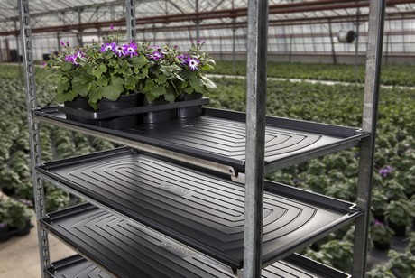 FloralDaily.com : Large watering trays for Danish trolleys