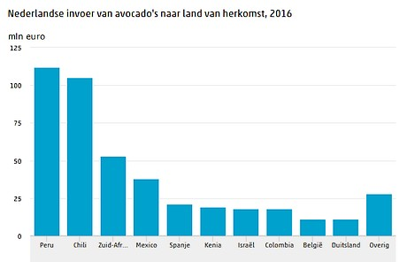 The Netherlands is the world's second largest avocado importer