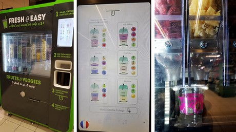 Personalised Smoothies From Vending Machines