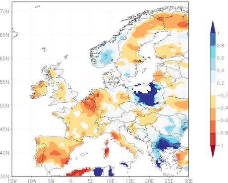 Average Rainfall Map Europe.Less Than Average Rainfall Over Large Parts Of Europe
